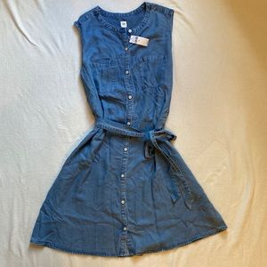 NWT GAP button-front skater dress